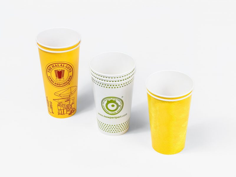 A selection of cold cups, examples shown are of varying styles and sizes.